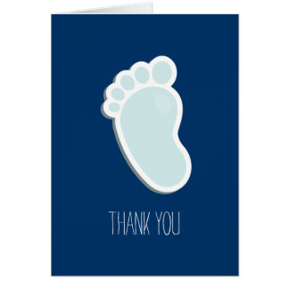 Blue Footprint Thank You Card