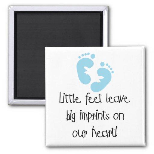Blue Footprints Little Feet Big Imprints Magnet