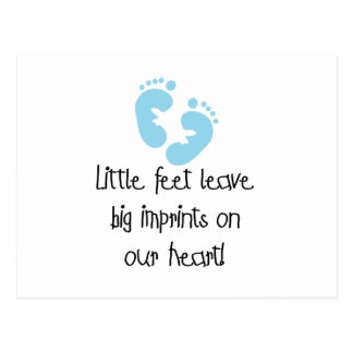 Blue Footprints Little Feet Big Imprints Postcard