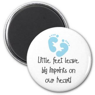 Blue Footprints Magnet