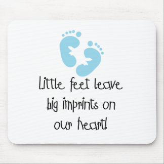 Blue Footprints Mouse Pad