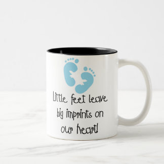 Blue Footprints Two-Tone Coffee Mug