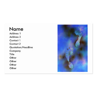 Blue footprints painting business card