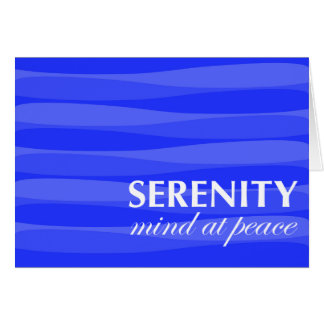 Blue for Serenity Greeting Card