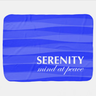 Blue for Serenity Swaddle Blankets