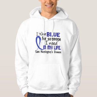 Blue For Someone I Need Huntington's Disease Hooded Sweatshirt