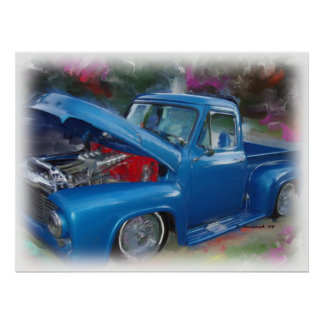 Blue Ford Truck Poster