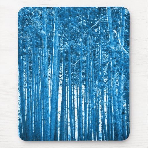 blue forest mouse pad