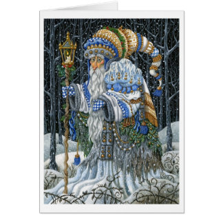Blue Forest Santa Cards