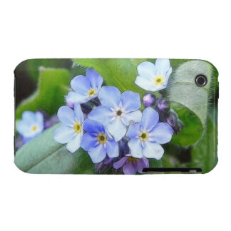 Blue Forget Me Not Flowers iPhone 3 Case