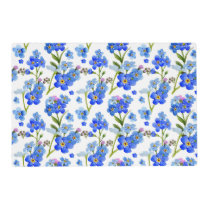 Blue Forget-me-not Flowers Laminated Paper Placemat