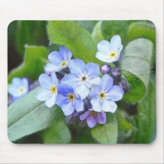 Blue Forget Me Not Flowers Mouse Pad