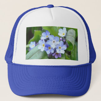 Blue Forget Me Not Flowers Trucker Hat