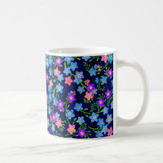 Blue Forget Me Not Garden Flowers Mug
