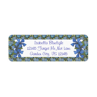 Blue Forget me not Wildflowers Label