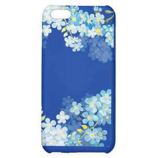 Blue Forget Me Nots iPhone 5C Cases