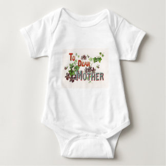 Blue Forget Me Nots Purple Mother's Day Card Baby Bodysuit