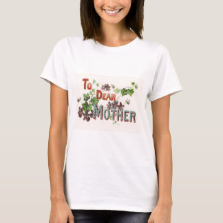 Blue Forget Me Nots Purple Mother's Day Card T-Shirt