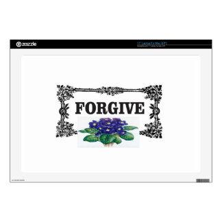 blue forgive fun laptop skin
