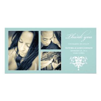 BLUE FORMAL COLLAGE | WEDDING THANK YOU CARD
