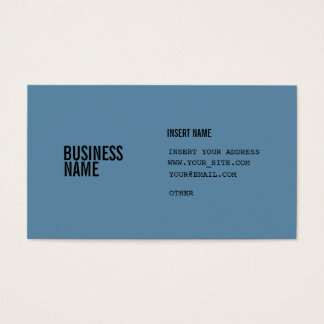 Blue Format With Columns Condensed Fonts Business Card