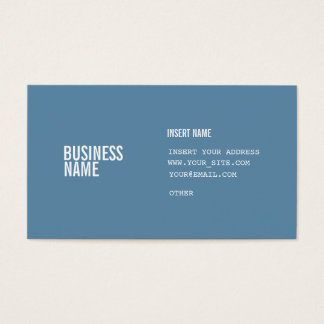 Blue Format With Columns White Condensed Fonts Business Card
