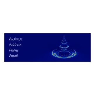 Blue fountain business card template
