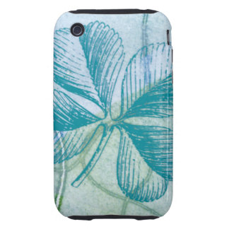 Blue Four Leaf Clover iPhone Case iPhone 3 Tough Covers
