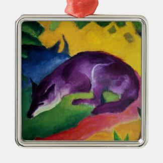 Blue Fox, 1911 Metal Ornament