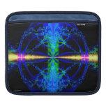 Blue Fractal Art iPad Sleeve