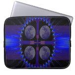 Blue Fractal Art Neoprene Laptop Sleeve