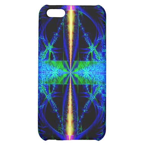 Blue Fractal Art Speck Case for i Phone iPhone 5C Cover