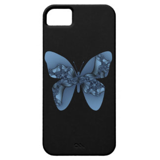 blue fractal butterfly iPhone 5 cases