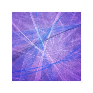Blue fractal canvas print