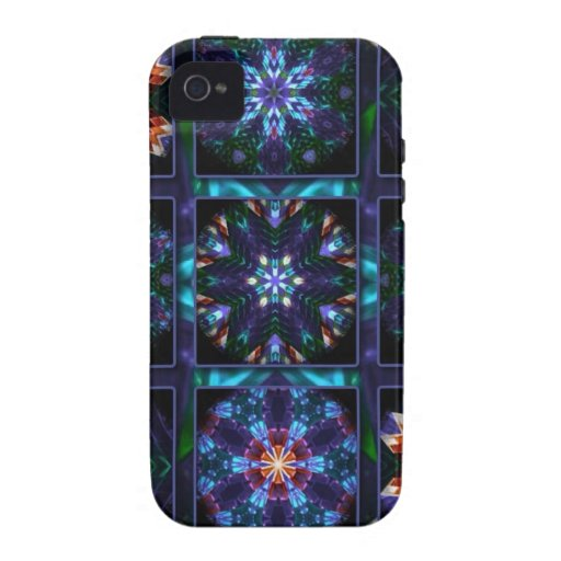 Blue Fractal Collage Case-Mate iPhone 4 Cover