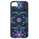 Blue Fractal Collage iPhone 5 Case