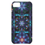 Blue Fractal Collage iPhone 5C Cases