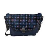 Blue Fractal Collage Messenger Bags