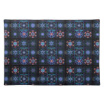 Blue Fractal Collage Place Mat
