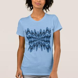 Blue Fractal Corset Shirt