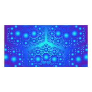 Blue Fractal Explosions: Card