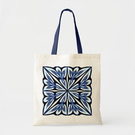 Blue Fractal Flower Bag