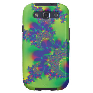 Blue Fractal Flowers Galaxy S3 Case