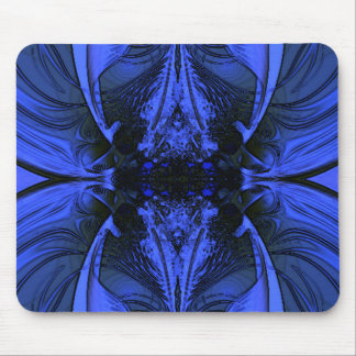Blue Fractal -Lively Mouse Pads