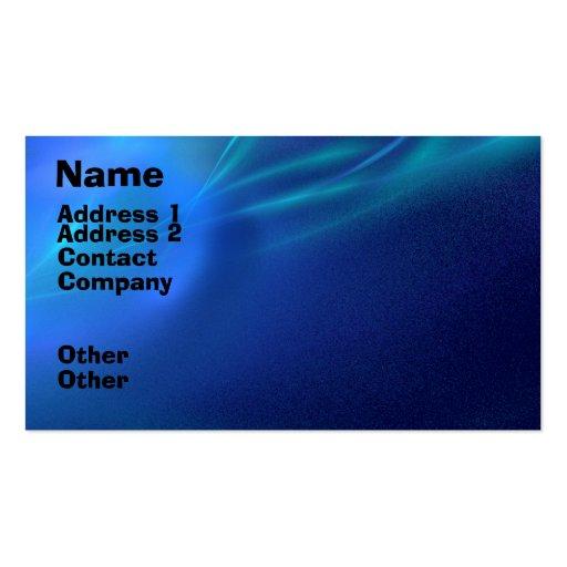 Blue Fractal Mist Business Card Templates