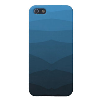 Blue Fractal Mountain Cover For iPhone 5