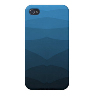 Blue Fractal Mountain Covers For iPhone 4