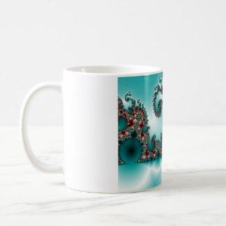 Blue Fractal Mug mug