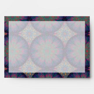 Blue Fractal Pattern Envelope