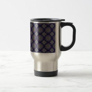 Blue Fractal Pattern Mug